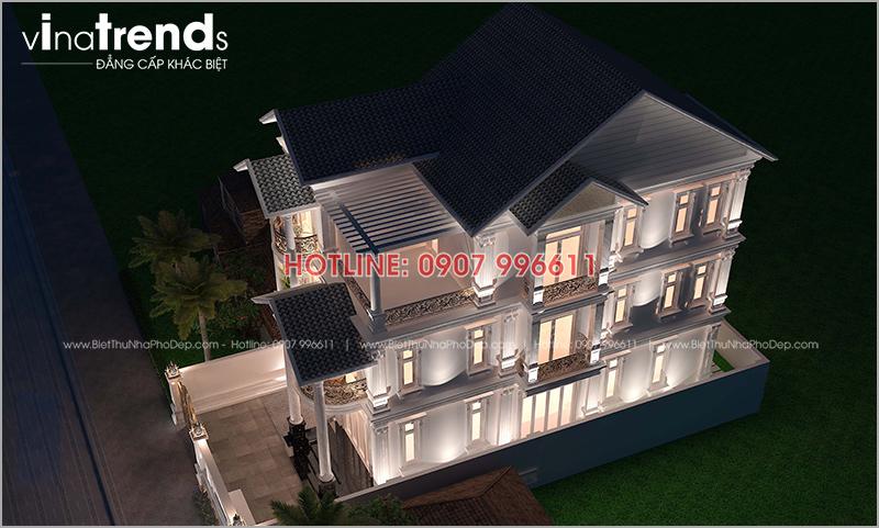 mau biet thu co dien dep 3 tang mat tien 8m o bien hoa 1 12 mẫu nhà biệt thự đẹp 1 2 3 4 tầng ở Biên Hòa sẽ thi công năm 2018 – 2019