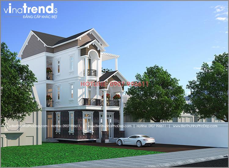 mau biet thu mai thai 3 tang tren 100m2 o long thanh dong nai 2 12 mẫu nhà biệt thự đẹp 1 2 3 4 tầng ở Biên Hòa sẽ thi công năm 2018 – 2019
