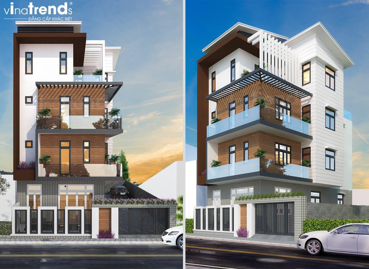 mau nha biet thu 4 tang hien dai dep Mẫu biệt thự đẹp 3 tầng hiện đại 18x20m chỉ muốn ở nhà của gia đình chú Tuấn ở Nha Trang