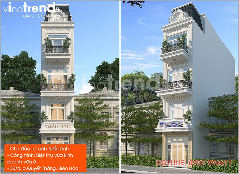 mau nha dep nhat o bien hoa do vinatrends thiet ke thi cong 6 1 Hơn 12 mẫu nhà biệt thự 1 2 3 4 tầng ở Biên Hòa dự kiến hoàn thiện năm 2019