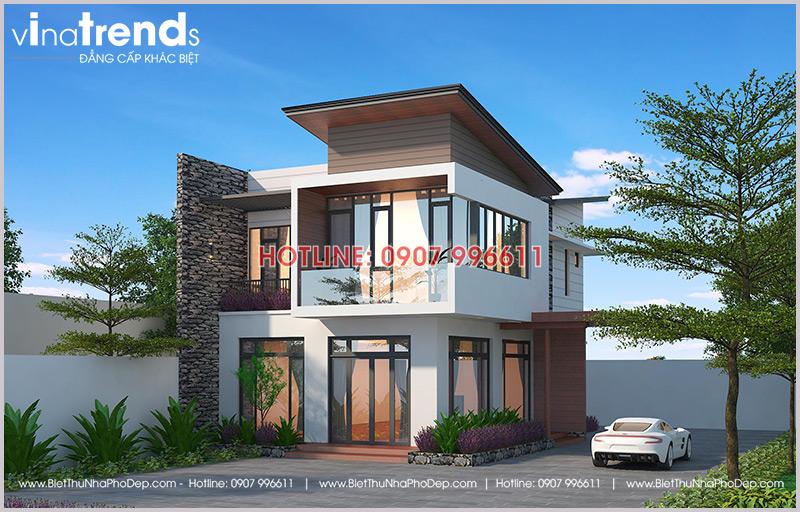nha biet thu dep 2 tang san vuon kieu nha kinh 2 12 mẫu nhà biệt thự đẹp 1 2 3 4 tầng ở Biên Hòa sẽ thi công năm 2018 – 2019
