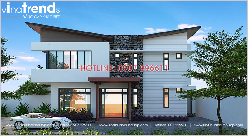 nha biet thu dep 2 tang san vuon kieu nha kinh 5 12 mẫu nhà biệt thự đẹp 1 2 3 4 tầng ở Biên Hòa sẽ thi công năm 2018 – 2019