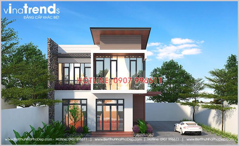nha biet thu dep 2 tang san vuon kieu nha kinh 6 Mẫu biệt thự đẹp 3 tầng hiện đại 8,8x10m như resort của chủ nhà 9X dành tặng ba mẹ
