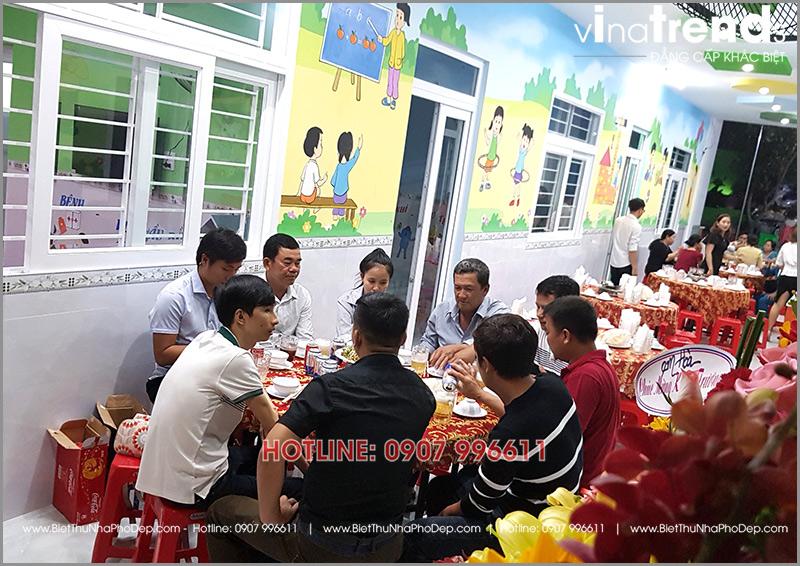 xay truong mam non 1 tang dep o bien hoa 3 1 Thi công hoàn thiện trường mẫu giáo Kim Đồng 636m2 ở Biên Hòa phủ toàn sắc Xanh