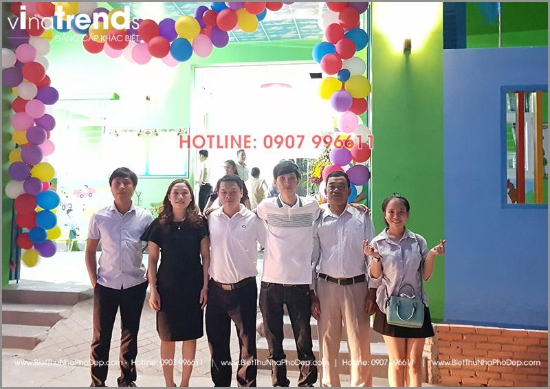 xay truong mam non 1 tang dep o bien hoa 5 1 Thi công hoàn thiện trường mẫu giáo Kim Đồng 636m2 ở Biên Hòa phủ toàn sắc Xanh