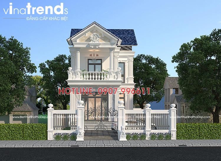 mau biet thu 2 tang chu L duoi 100m2 o bien hoa vinatrends thiet ke 12 mẫu nhà biệt thự đẹp 1 2 3 4 tầng ở Biên Hòa sẽ thi công năm 2018 – 2019