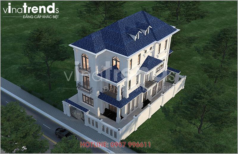 mau biet thu dep 3 tang tan co dien o bien hoa nha chi hai anh 2 Mẫu nhà biệt thự 3 tầng 2 mặt tiền tân cổ điển Pháp 126m2 ở Biên Hòa xong hồ sơ!