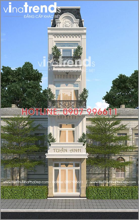 mau nha 4 tang vua o vua kinh doanh 58m2 o bien hoa 5 Mẫu nhà 4 tầng cổ điển 48m2 vừa ở vừa kinh doanh tiện nghi dù mặt tiền gần 3,4m