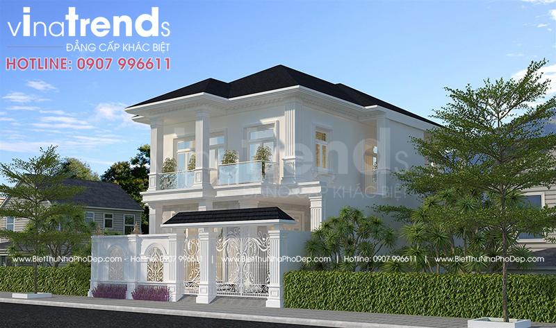 mau nha dep 2 tang o bien hoa moi nhat 1 12 mẫu nhà biệt thự đẹp 1 2 3 4 tầng ở Biên Hòa sẽ thi công năm 2018 – 2019