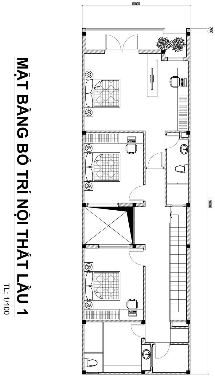 1 Mẫu nhà 2 tầng 126m2 4 phòng ngủ có gara oto ở Biên Hòa dể tích góp xây nhà