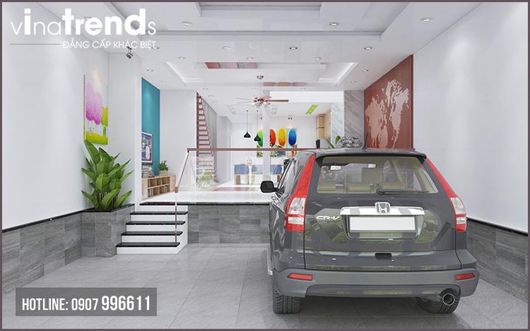 gara o to nha 2 tang Mẫu nhà 2 tầng đơn giản 6x18m 4 phòng ngủ có gara ô tô ở Biên Hòa dể tích góp xây nhà