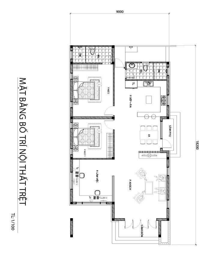 mat bang biet thu 1 tang dep Mẫu biệt thự 1 tầng 165m2 ở Biên Hòa mệnh danh 'ngôi nhà quốc dân' bởi vẻ đẹp giản dị