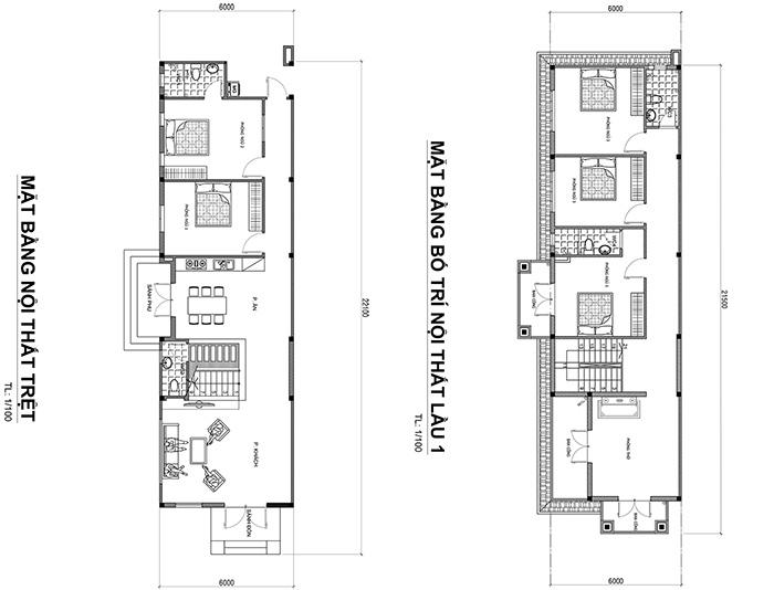 mat bang nha 2 tang  Mẫu nhà 2 tầng mái thái chữ Lờ mặt tiền 6x22m giữ chút hồn quê ở Xuân Lộc   Đồng Nai