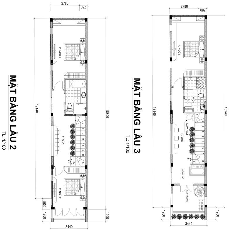 mat bang nha pho vua o vua kinh doanh 63m2 1 Mẫu nhà 3 tầng vừa ở vừa kinh doanh mặt tiền 3,4m khu sầm ức ở Biên Hòa