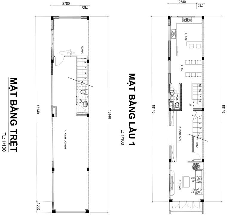 mat bang nha pho vua o vua kinh doanh 63m2 2 Mẫu nhà 3 tầng vừa ở vừa kinh doanh mặt tiền 3,4m khu sầm ức ở Biên Hòa