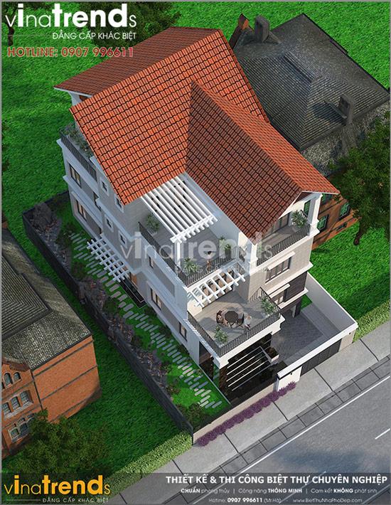 mau biet thu 3 tang co ham oto 130m2 o vinh phuc 20+ mẫu nhà đẹp mái thái 1 2 3 tầng xiêu lòng chủ nhà đẳng cấp