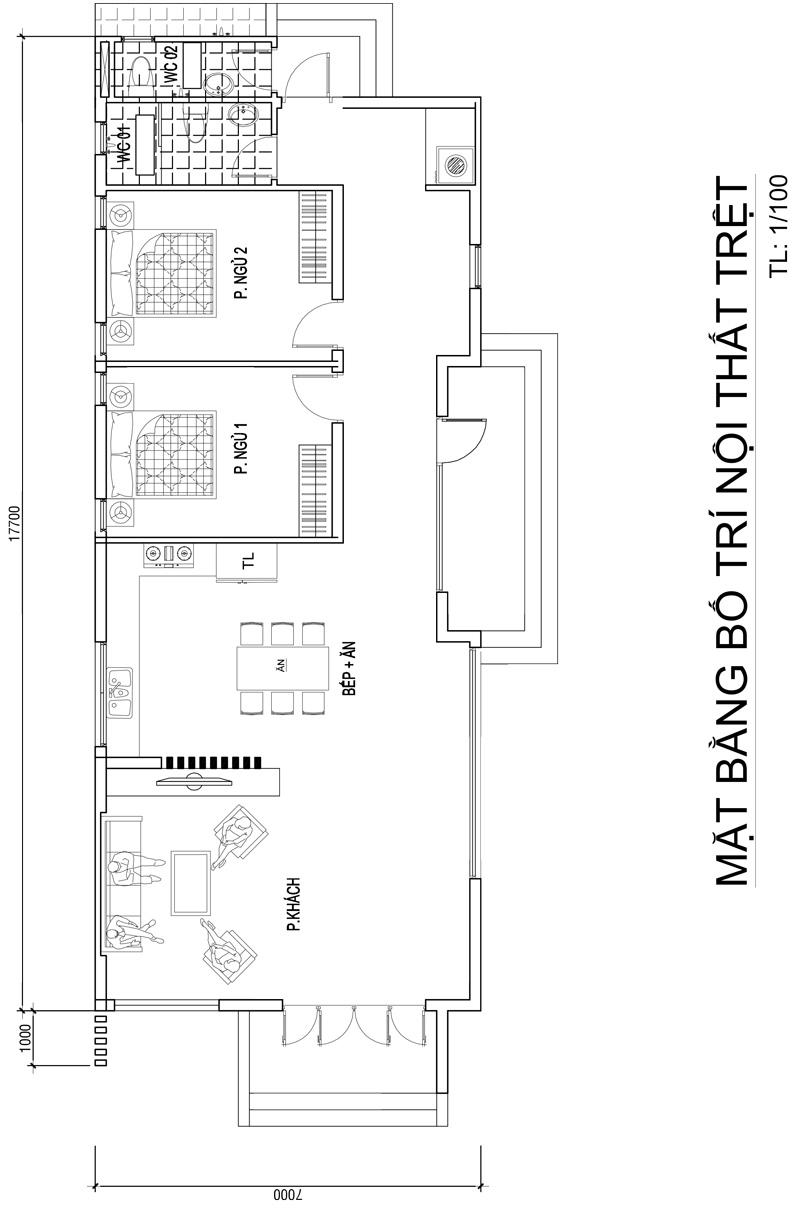 mau nha 1 tang hien dai mai thai dep nhat 1 Mẫu nhà 1 tầng 126m2 chi tiết thiết kế dể tích góp xây nhà ở Biên Hòa