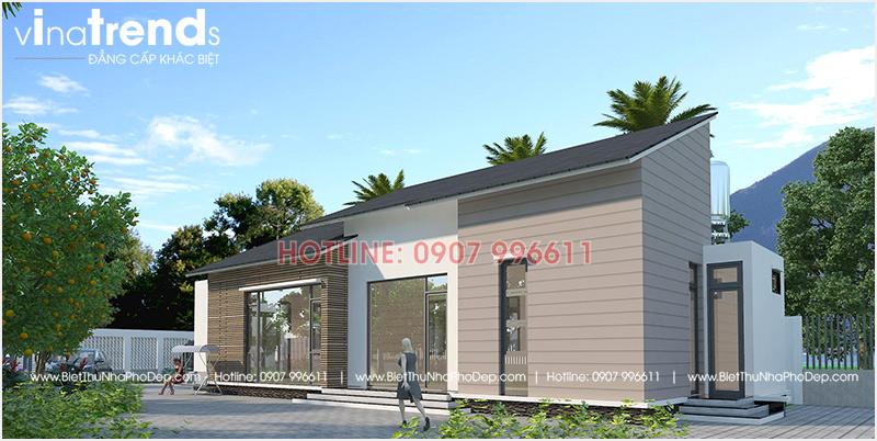 mau nha 1 tang hien dai mai thai dep nhat 2 12 mẫu nhà biệt thự đẹp 1 2 3 4 tầng ở Biên Hòa sẽ thi công năm 2018 – 2019