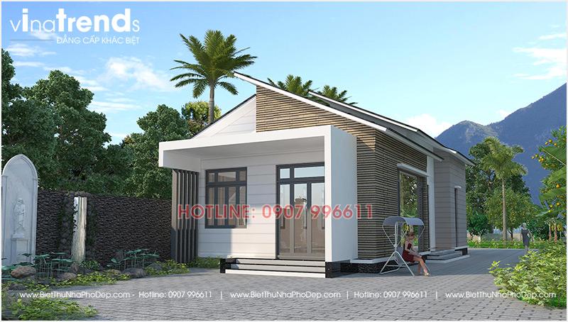 mau nha 1 tang hien dai mai thai dep nhat 4 Mẫu nhà 1 tầng 126m2 chi tiết thiết kế dể tích góp xây nhà ở Biên Hòa