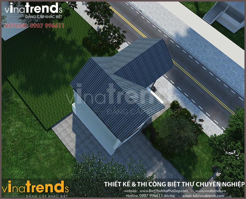 mau nha 2 tang mai thai chu l dep o bien hoa 4 Mẫu nhà 2 tầng mái thái 86m2 ở Biên Hòa Hóa Phép thành biệt thự sang trọng
