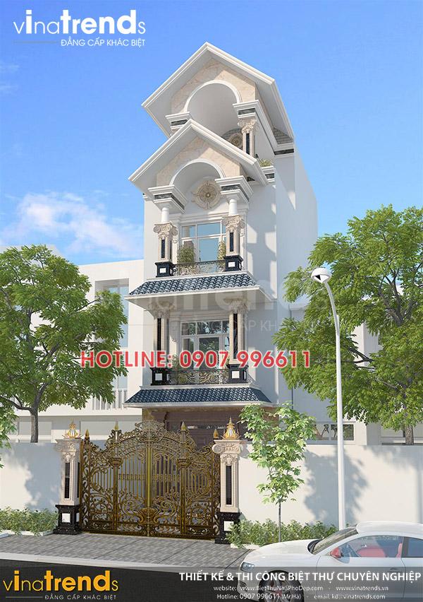 mau nha 3 tang co dien mat tien 5m dep 12 mẫu nhà biệt thự đẹp 1 2 3 4 tầng ở Biên Hòa sẽ thi công năm 2018 – 2019