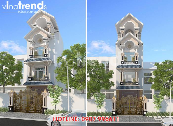 mau nha 3 tang mat tien 5m Đơn giá thiết kế nhà phố   biệt thự trọn gói của VinaTrends từ 08/2020