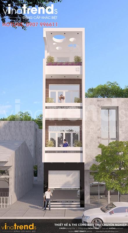 mau nha dep bien hoa vua o vua kinh doanh mat tien duoi 4m 3 Mẫu nhà 3 tầng vừa ở vừa kinh doanh mặt tiền 3,4m khu sầm ức ở Biên Hòa