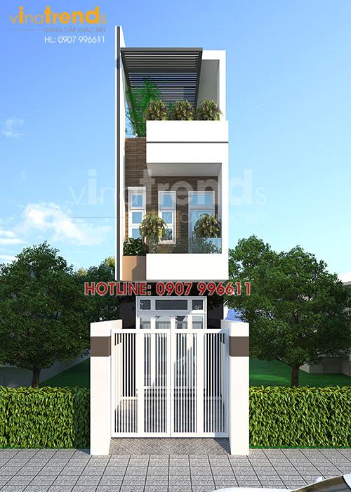 mau nha ong dep mat tien 35m o bien hoa Tối ưu mẫu nhà ống rộng 3 5m mặt tiền 3 phòng ngủ ở Biên Hòa đã xây xong