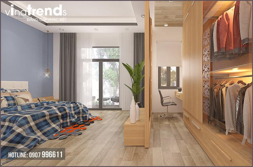 phong ngu don gian nha 2 tang dep Mẫu nhà 2 tầng đơn giản 6x18m 4 phòng ngủ có gara ô tô ở Biên Hòa dể tích góp xây nhà