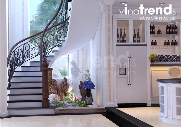 thiet ke cau thang biet thu 2 tang dep Mẫu nhà 2 tầng đẹp 96m2 ở Biên Hòa – Niềm ao ước của vợ chồng trẻ 9X