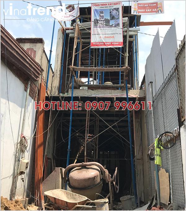 xay nha 3 tang hien dai o bien hoa nha anh Hoang 5 Tối ưu mẫu nhà ống rộng 3 5m mặt tiền 3 phòng ngủ ở Biên Hòa đã xây xong