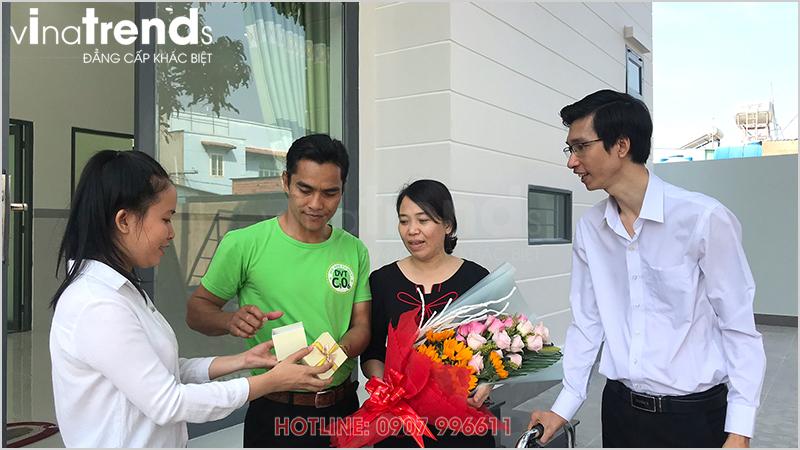 cong ty xay dung uy tin nhat bien hoa la vinatrends 1 Mẫu nhà 1 tầng hiện đại 9x18m xây xong ở Biên Hòa được chủ nhà viết tâm thư