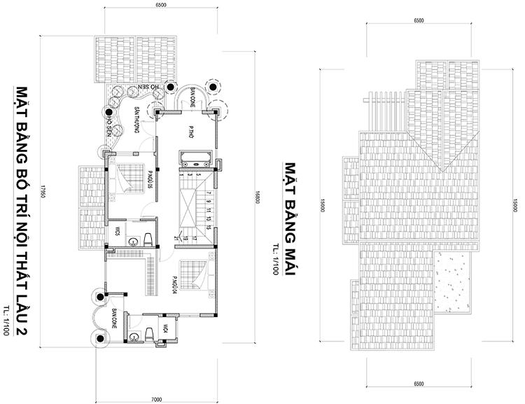 mat bang mau biet thu mat tien 65m 1 Mẫu nhà biệt thự 3 tầng mái thái 6,5x15m có sân vườn rộng khá đồ sộ của anh Nghĩa   Nhà Bè