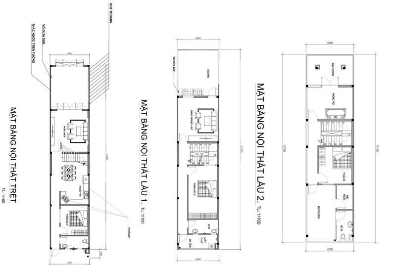 mat bang mau nha 3 tang dep 72m2 Mẫu nhà 3 tầng đẹp 4,5x16m nhờ kỹ lưỡng từ centimet của anh Tiến ở Nhơn Trạch   Biên Hòa