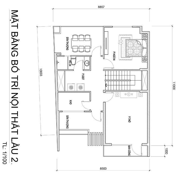 mau biet thu hien dai 3 tang duoi 100m2 vinatrends thiet ke 7 Mẫu biệt thự đẹp 3 tầng 8,8x10m sinh thái mini của chủ nhà 9X dành tặng ba mẹ