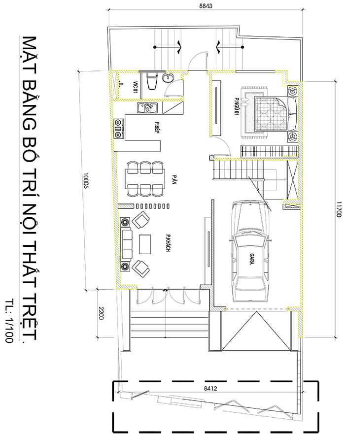 mau biet thu hien dai 3 tang duoi 100m2 vinatrends thiet ke 8 Mẫu biệt thự đẹp 3 tầng 8,8x10m sinh thái mini của chủ nhà 9X dành tặng ba mẹ