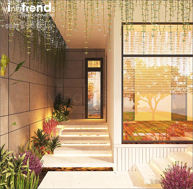 biet thu 1 tang phong cach han quoc 2 19 mẫu nhà biệt thự hiện đại 1 2 3 4 tầng đậm nét KHÁC BIỆT của những ông chủ trẻ tuổi thành đạt