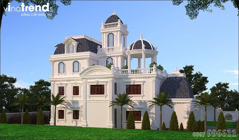 biet thu co dien chau au 3 tang 1500m2 o binh phuoc vinatrends thiet ke 7 Biệt thự lâu đài 3 tầng cổ điển có sân vườn rộng 1500m2 của đại gia miền Trung ở Bình Phước