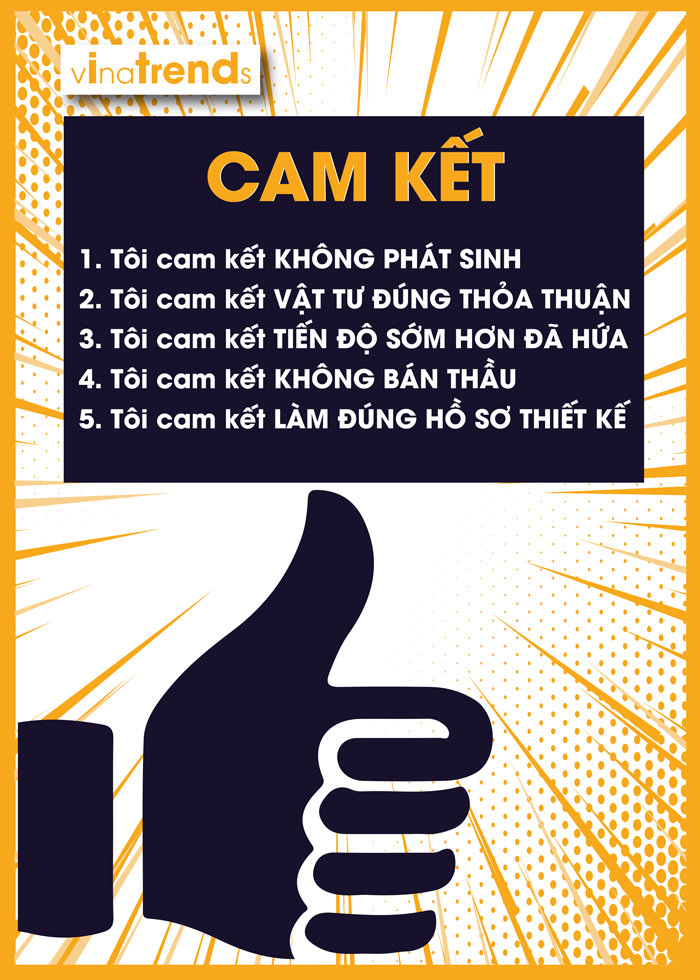 cam ket thi cong cong ty xay dung vinatrends Cam kết của Vinatrends