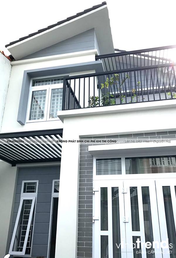 mau nha 2 tang don gian dep duoi 100m2 44 VinaTrends   Công ty xây dựng tại Đồng Nai hơn 499 công trình thiết kế xây nhà trọn gói trên toàn Việt Nam