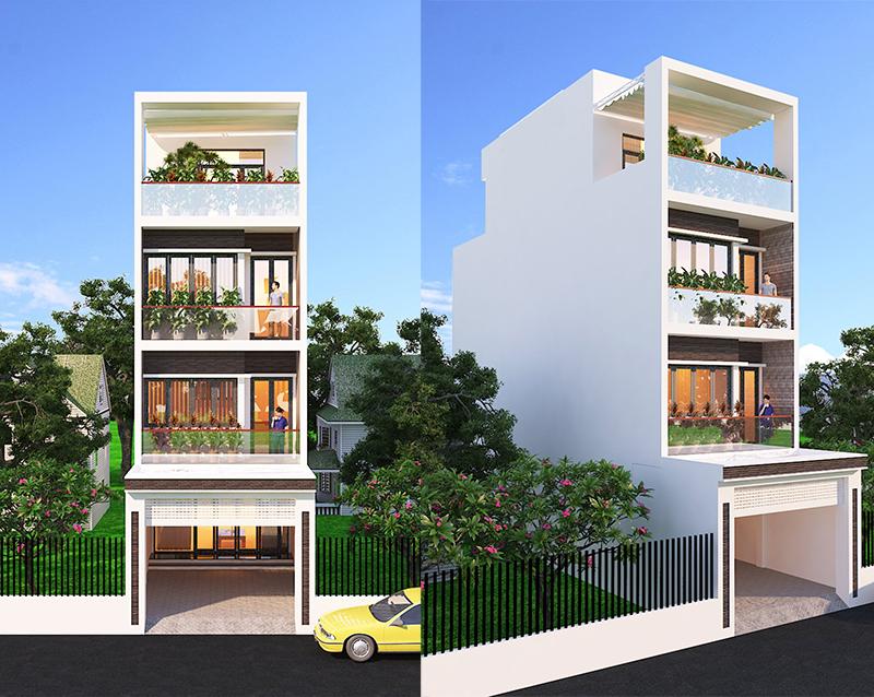 mau nha 4 tang dep 15+ mẫu nhà 2 3 4 5 tầng mặt tiền 4m trở lên đẹp sang tiện nghi từ khách VinaTrends đã xây dựng
