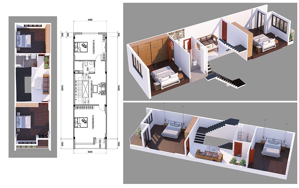 nha 4 tang hien dai mat tien 7m ngang 14 o bien hoa vinatrends thiet ke 3 Nhà 4 tầng hiện đại 5x14,5m bố trí 2 lầu cho thuê ở trung tâm Biên Hòa