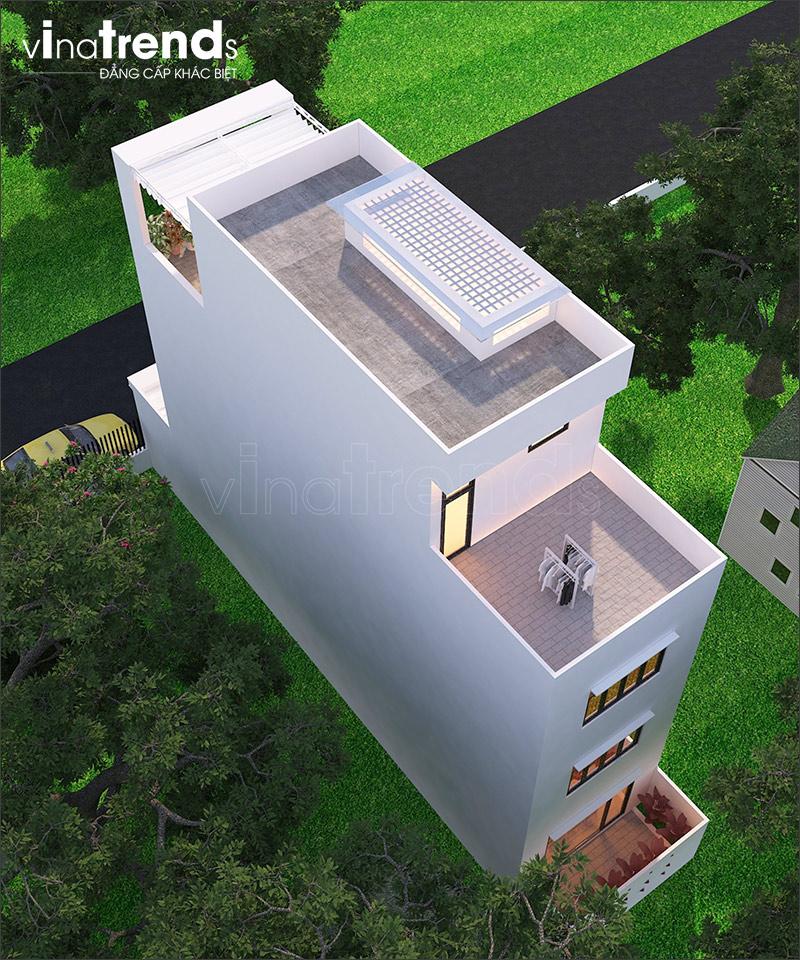 nha 4 tang hien dai mat tien 7m ngang 14 o bien hoa vinatrends thiet ke 4 Nhà 4 tầng hiện đại 5x14,5m bố trí 2 lầu cho thuê ở trung tâm Biên Hòa