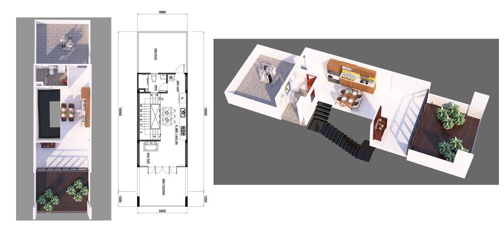 nha 4 tang hien dai mat tien 7m ngang 14 o bien hoa vinatrends thiet ke 5 Nhà 4 tầng hiện đại 5x14,5m bố trí 2 lầu cho thuê ở trung tâm Biên Hòa