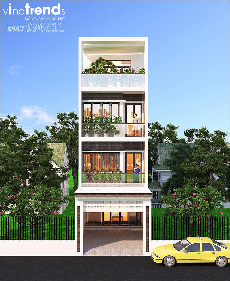 nha 4 tang hien dai mat tien 7m ngang 14 o bien hoa vinatrends thiet ke 6 Đơn giá thiết kế nhà phố   biệt thự trọn gói của VinaTrends từ 08/2020