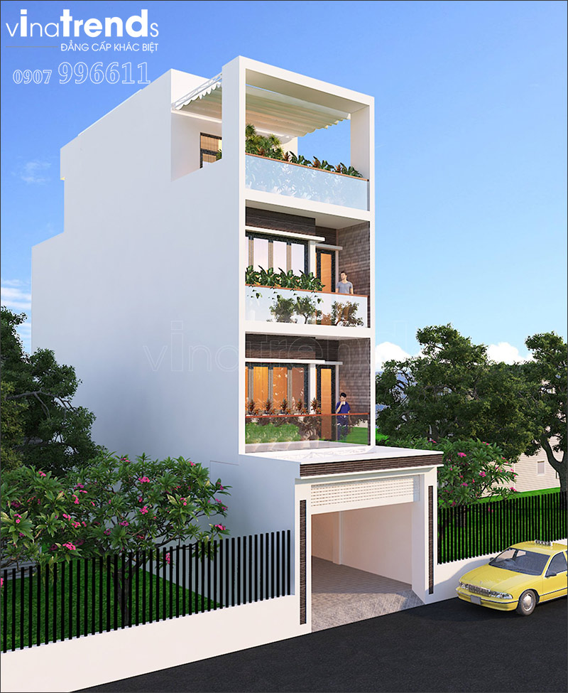 nha 4 tang hien dai mat tien 7m ngang 14 o bien hoa vinatrends thiet ke 7 VinaTrends   Công ty xây dựng tại Đồng Nai hơn 499 công trình thiết kế xây nhà trọn gói trên toàn Việt Nam