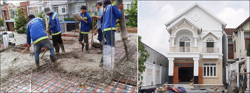thi cong biet thu chuyen nghiep VINATRENDs: Công ty  thiết kế xây dựng tiên phong Không Phát Sinh Chi Phí Khi Thi Công