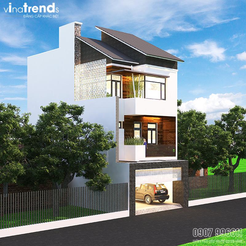 99ff71dd4c42a81cf153 Mẫu nhà 3 tầng đẹp hiện đại 6,7x12m có 3 giếng trời cho chủ nhà ưu tiên ánh sáng ở Biên Hòa