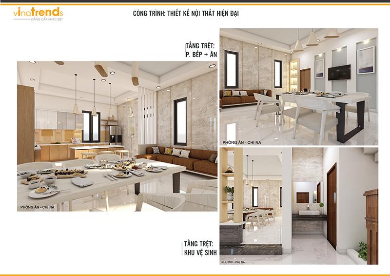 BEP AN WC Mẫu biệt thự 2 tầng hiện đại 12,5x18m ở Cam Ranh là điểm dừng của 1 resort mang tên Hạnh Phúc
