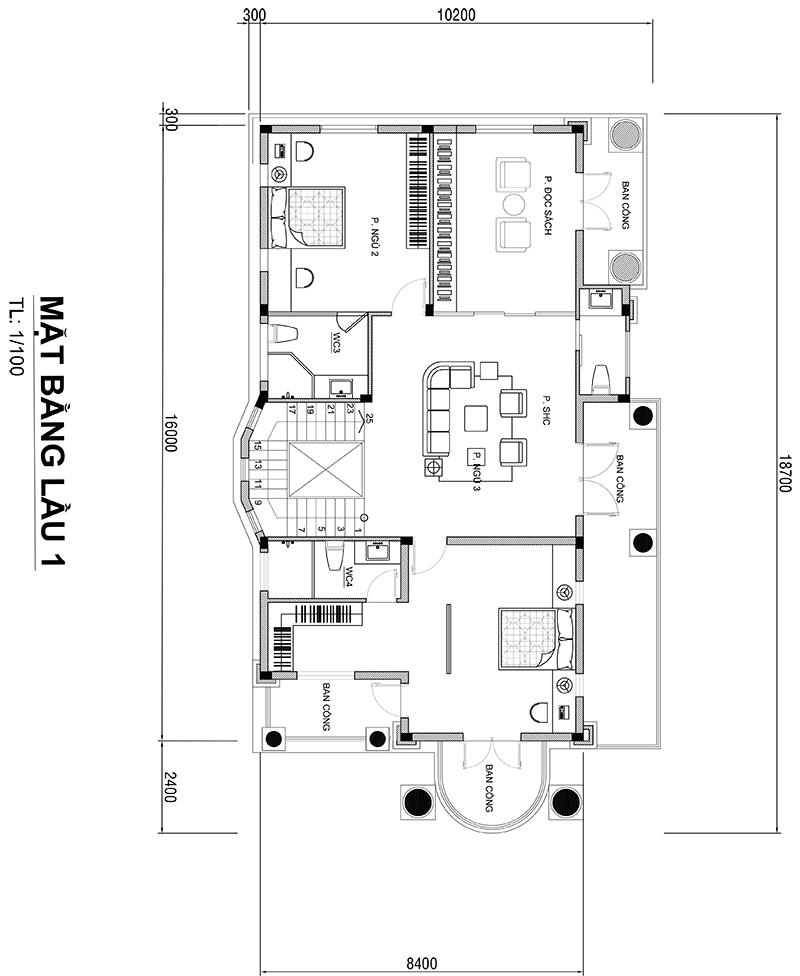 MB LẦU 1 ANH HUNG Mẫu biệt thự 3 tầng mái thái tân cổ điển 11,4x17m ĐẸP MỸ MÃN ở Đồng Tháp nhờ chọn c.ty thiết kế như ý